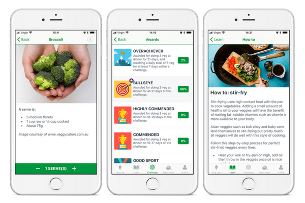 VegEze CSIRO eating vegetables app