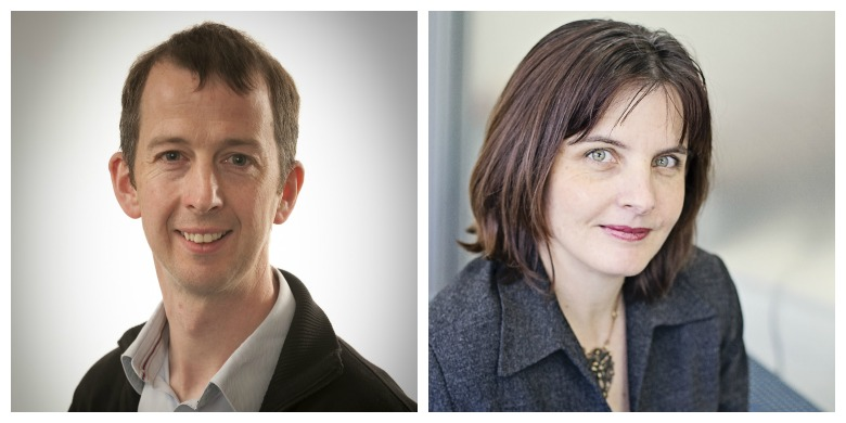 (From left) Christopher McCabe and Tania Bubela created an analysis framework aimed at ensuring that new health technologies are economically viable, cost-effective and backed by evidence that will attract investment.