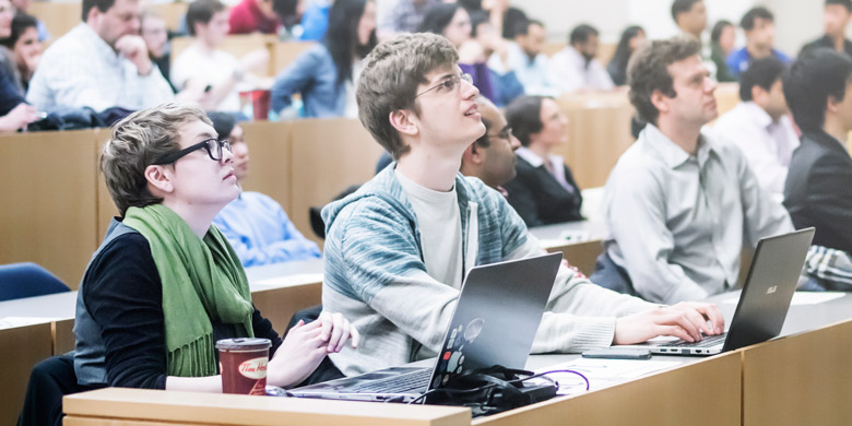 Students from across disciplines came together for the launch of the Entrepreneurship 101 course Jan. 28. (Photo: Nicholas Yee)