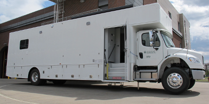 The mobile lab—essentially a 30-foot-long RV specially equipped for research—will be available to U of A scientists to take their work on the road. (Supplied photo)