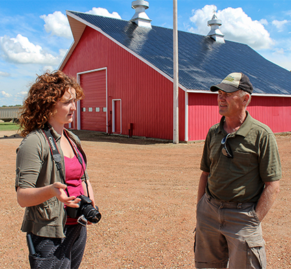 Sydney Hampshire spent two summers travelling throughout Flagstaff County to talk with local farmers about the history of their family barns. (Photo: Cary Castagna)