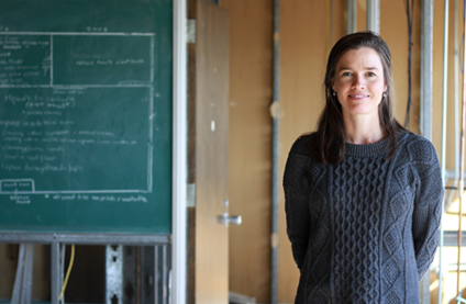 Pharmacologist Anna Taylor (pictured in her lab while it was under construction when she came to the U of A in 2017 as a new assistant professor) was one of 16 researchers whose projects were funded by new CFI grants. (Photo: Faculty of Medicine & Dentistry)