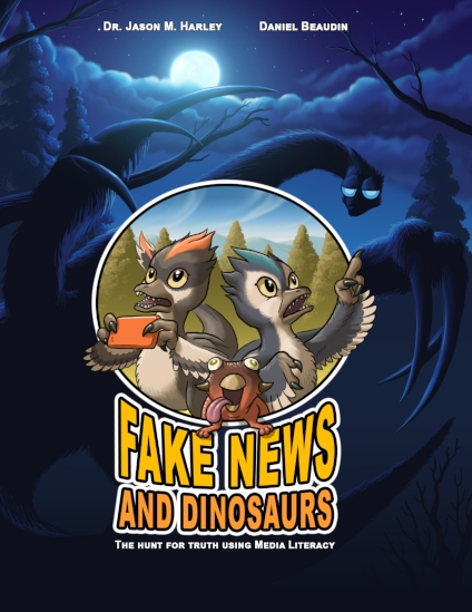 """Fake News and Dinosaurs"" follows two inquisitive young dinosaurs who have to sort out misleading media accounts and their own biases to solve a mystery. (Photo: Friesen Press)"
