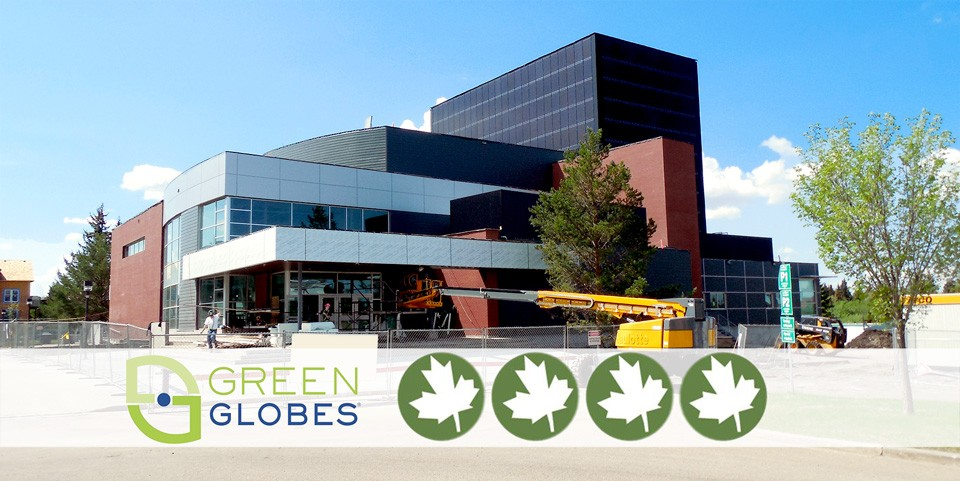 The Camrose Performing Arts Centre earned four Green Globes for environmentally sustainable design and construction.