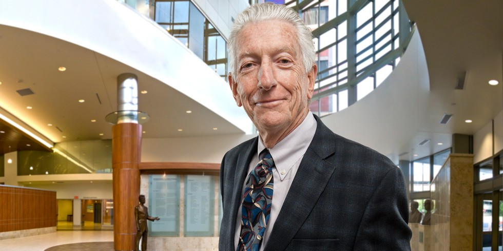 Paul Armstrong is the recipient of the 2014 University Cup, the U of A's highest academic honour, for his career achievements in cardiology research and teaching, and his outstanding service to the university and the larger community. (Photo: Richard Siemens)