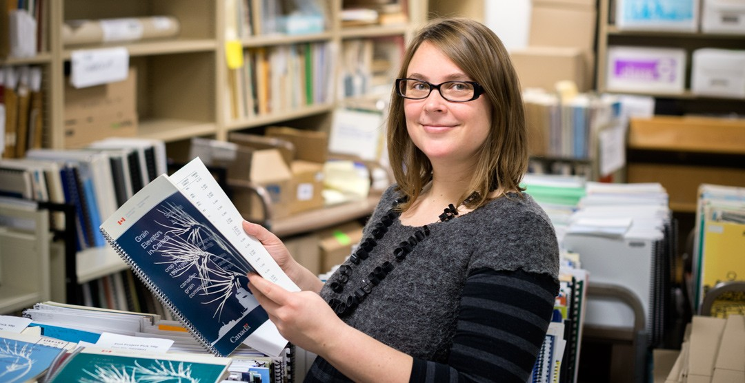 Digitization librarian Peggy Sue Ewanyshyn says communities appreciate the support U of A Libraries can offer to help people connect the past with their own lives. (Photo: Richard Siemens)