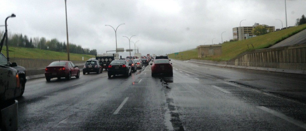 Stuck in traffic again? New smart vehicle technology being tested in Edmonton could make your commute faster and safer. (Photo: Faculty of Engineering)