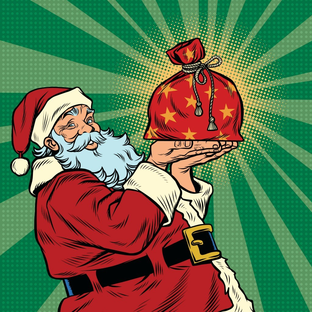 With a new sack made of nanotech fabric, Santa could save time and storage space.