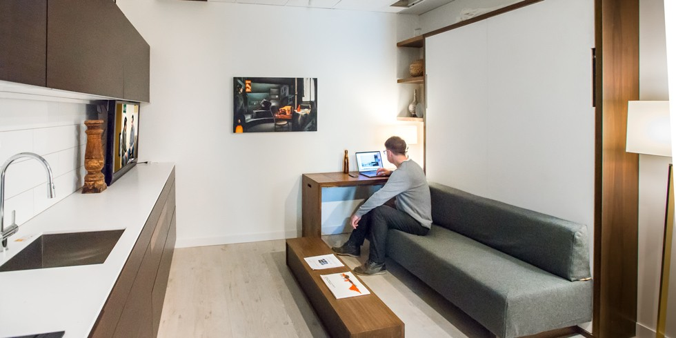 Tim Antoniuk Makes Himself At Home In The Tiny Condo He Built To Get Public Feedback