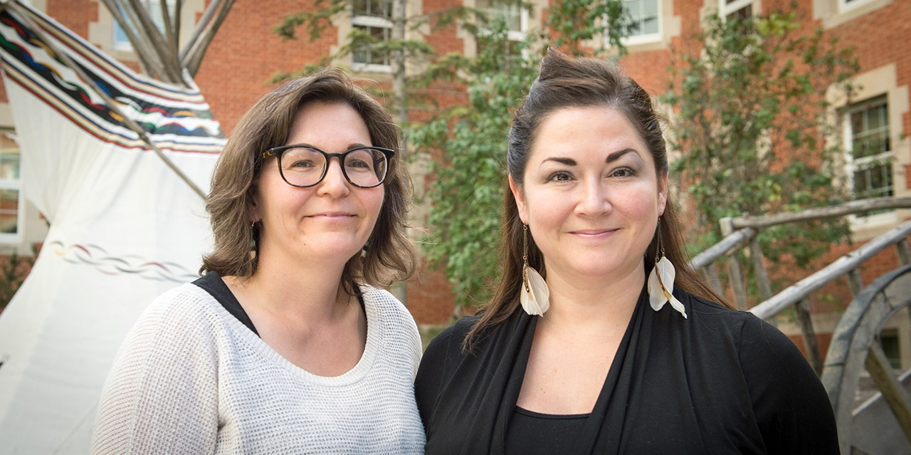 UAlberta PhD student Crystal Fraser, right, and postdoctoral fellow Sara Komarnisky created a list of of 150 acts of reconciliation Canadians can incorporate into their everyday lives. The list was published today, 150 days before the end of 2017.