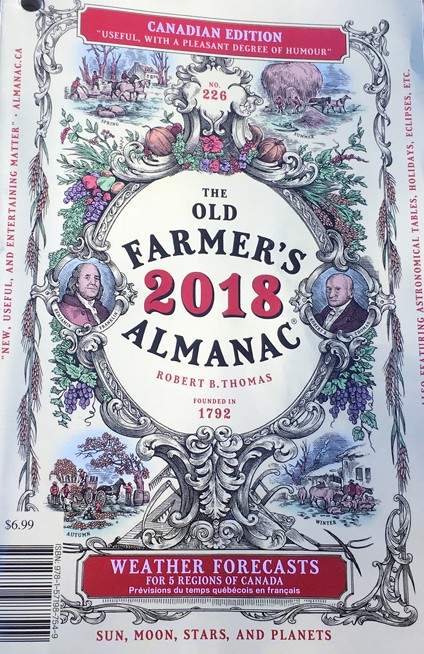 The Old Farmer's Almanac for 2018