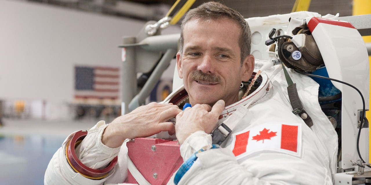 Chris Hadfield will be speaking at the U of A Oct. 1 to celebrate World Space Week. (Photo courtesy NASA)