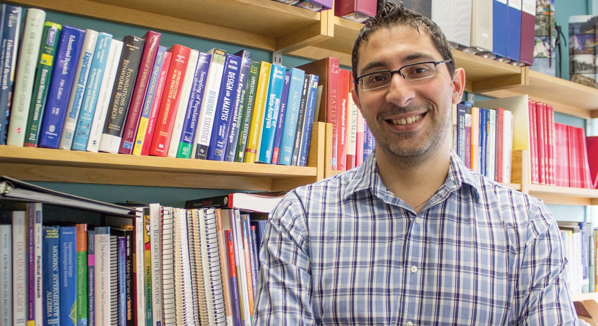 Education researcher George Georgiou is in the midst of a research project that has seen the number of participants with reading difficulties cut by more than 97 per cent.