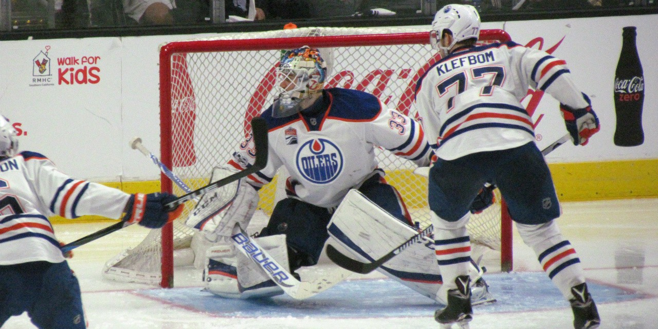 The defensive data show why the Edmonton Oilers are languishing in 29th place in the NHL standings. (Photo: Dinur via Flickr, CC BY-NC-ND 2.0)