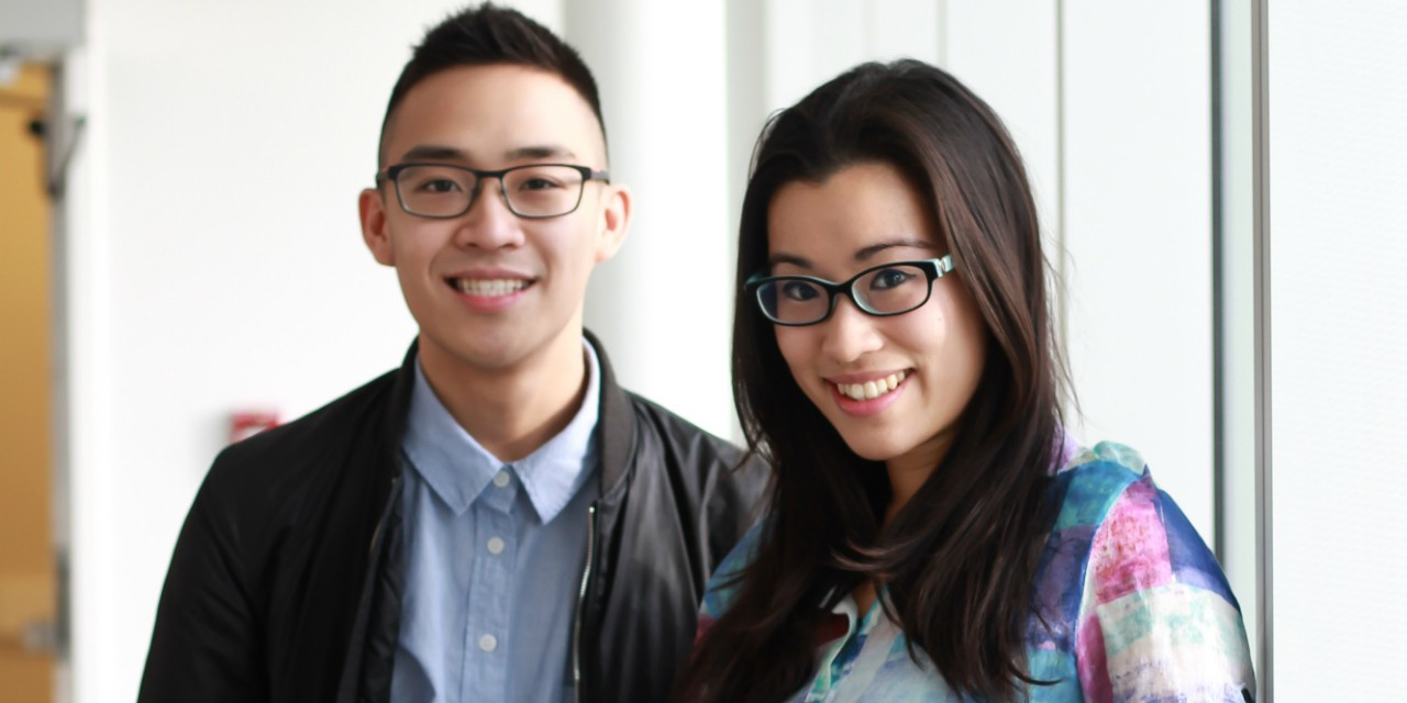 Second-year medical students Alexander Wong (left) and Emily Fong are leading the MD-AIDE initiative to help post-secondary students from low-income and Indigenous backgrounds prepare for the Medical College Admission Test. (Photo: Melissa Fabrizio)