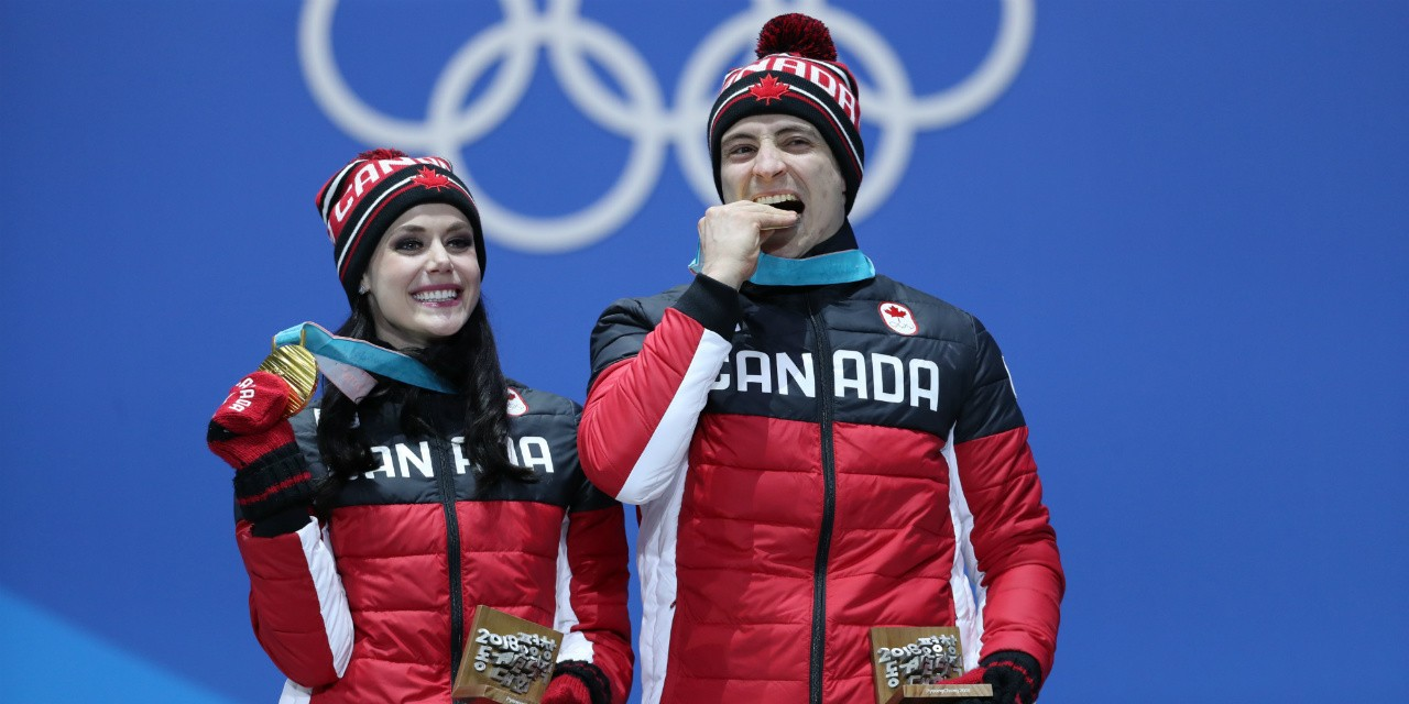 How will Olympians Tessa Virtue and Scott Moir find a next act after tasting victory at the pinnacle of their sport? It will depend on how much their sense of identity and self-worth is wrapped up with being athletes, say UAlberta sport psychology experts. (Photo: Canadian Olympic Committee)