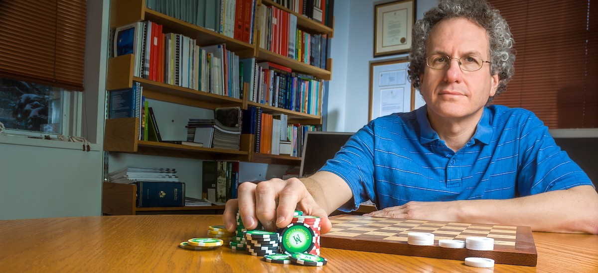 Jonathan Schaeffer developed Chinook, a checkers-playing program that defeated former world champion Marion Tinsley in 1994—the first program to win a human world championship in any game. (Photo: Richard Siemens)