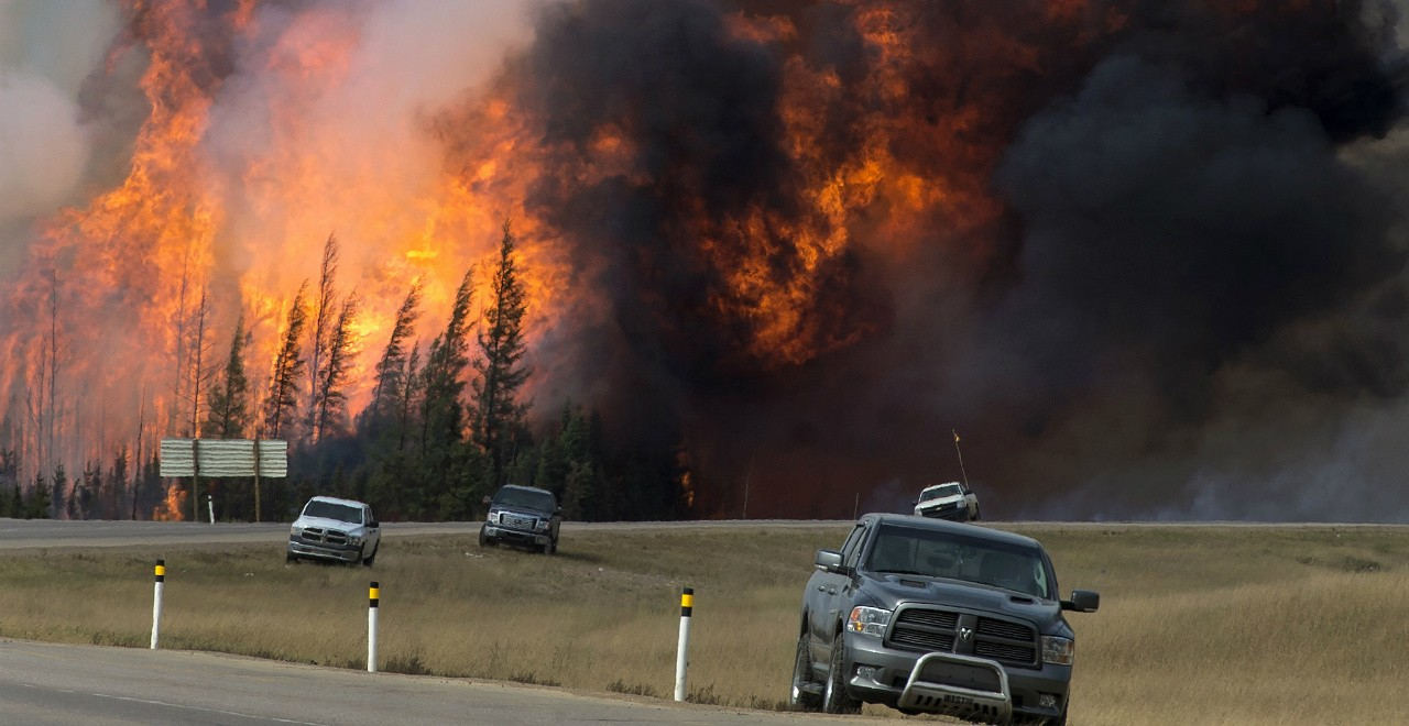 The chances of wildfires threatening populated areas in Western Canada this year depend more on day-to-day weather during the fire season than a cold and wet winter or spring, says wildfire expert Mike Flannigan. (Photo: Chris Schwarz/Government of Alberta via Flickr, CC BY-ND 2.0)