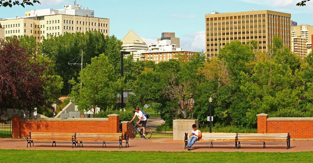 Neighbourhoods in Edmonton's core north of the river valley ranked high in livability based on what millennials value in a community. (Photo: Mapio.net)