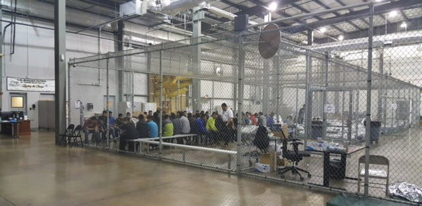 "Asylum seekers entering the United States through Mexico are detained in a facility in McAllen, Texas. A U.S. policy of ""zero tolerance"" on illegal immigration has led to young children being separated from their asylum-seeking parents. (Photo: U.S. Customs and Border Control)"