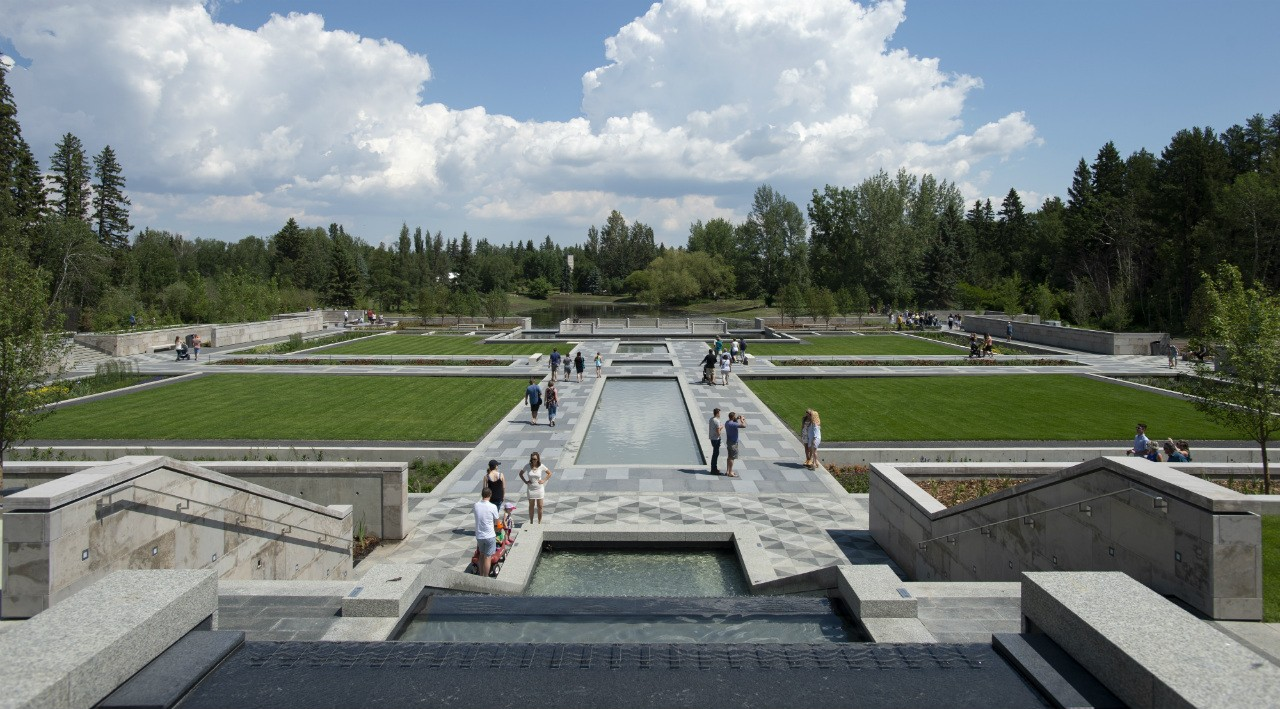 The new Aga Khan Garden, the northernmost Islamic garden in the world, is meant to foster connection, contemplation,  education and cultural understanding. (Photo: Paul Swanson)