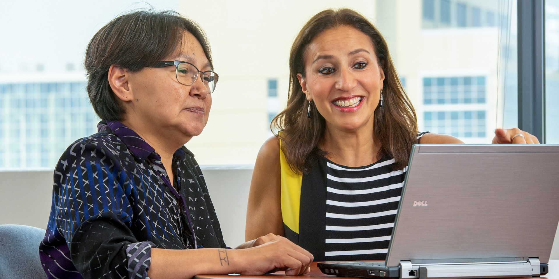 Sangita Sharma (right) received $1 million in federal funding for a five-year study aimed at improving the health of Indigenous mothers and infants in Canada's North. (Photo: Richard Siemens)