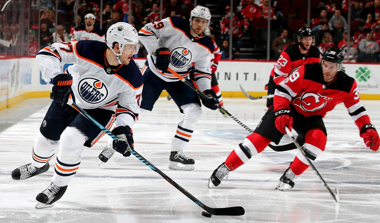 Despite the Edmonton Oilers' season-opening loss to the New Jersey Devils in Gothenburg, Sweden, there are plenty of reasons to expect better things from the team this year, according to a U of A educational psychologist. (Photo: Edmonton Oilers via Twitter)