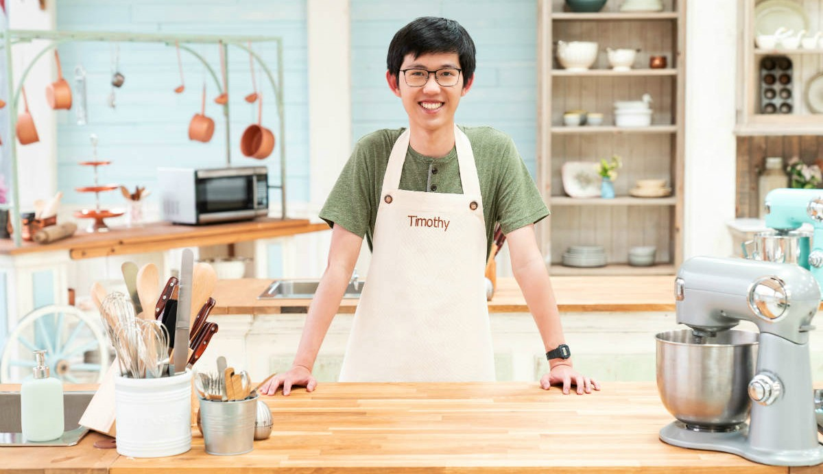 Timothy Fu, a self-taught baker and third-year biology student at the U of A, brings his passion for science to the kitchen as a contestant on The Great Canadian Baking Show. (Photo: CBC/Love Productions)