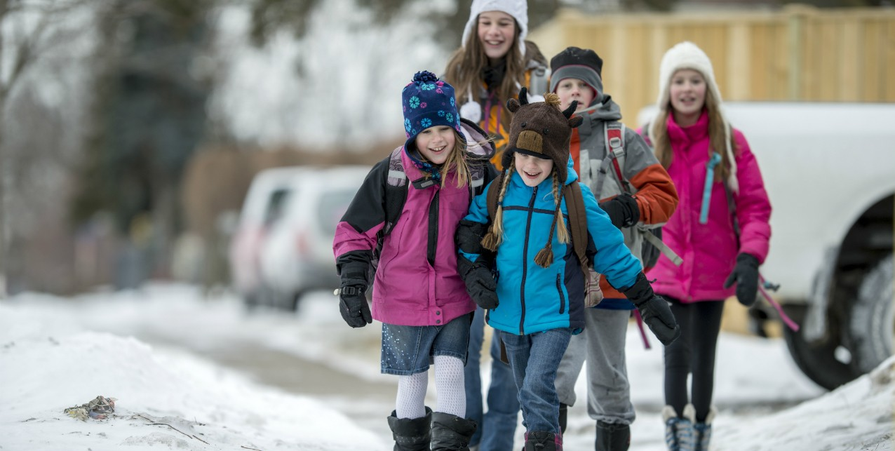 "Programs like a ""walking school bus"" that encourages kids to walk to and from school in groups can help them get daily physical activity safely, says a U of A researcher. (Photo: Getty Images)"