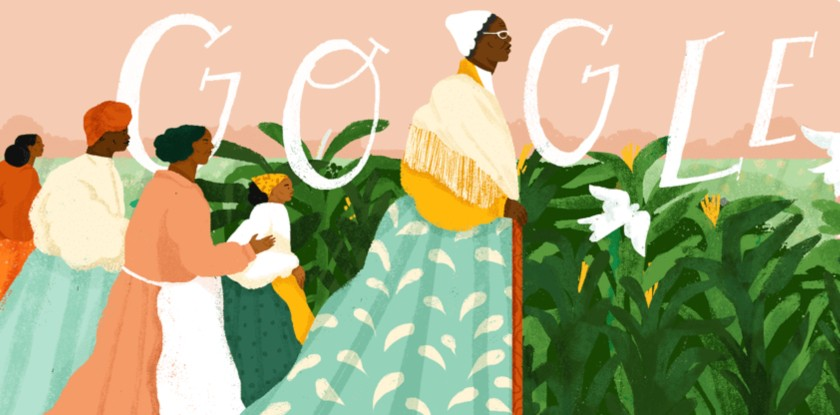 Google's homepage on Feb. 1., 2019, celebrated African-American activist Sojourner Truth—but its algorithms do not reflect the same inclusive approach, according to a U of A expert in digital cultures. (Image: Google)