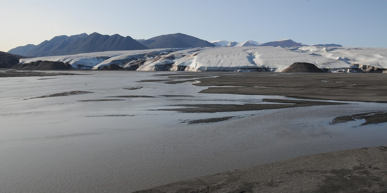 Meltwater from the Henrietta Nesmith Glacier in Quttinirpaaq National Park on Northern Ellesmere Island flows into Lake Hazen. U of A researchers found the glacier-fed rivers consumed a significant amount of CO2 from the atmosphere. (Photo courtesy of Vincent St. Louis)
