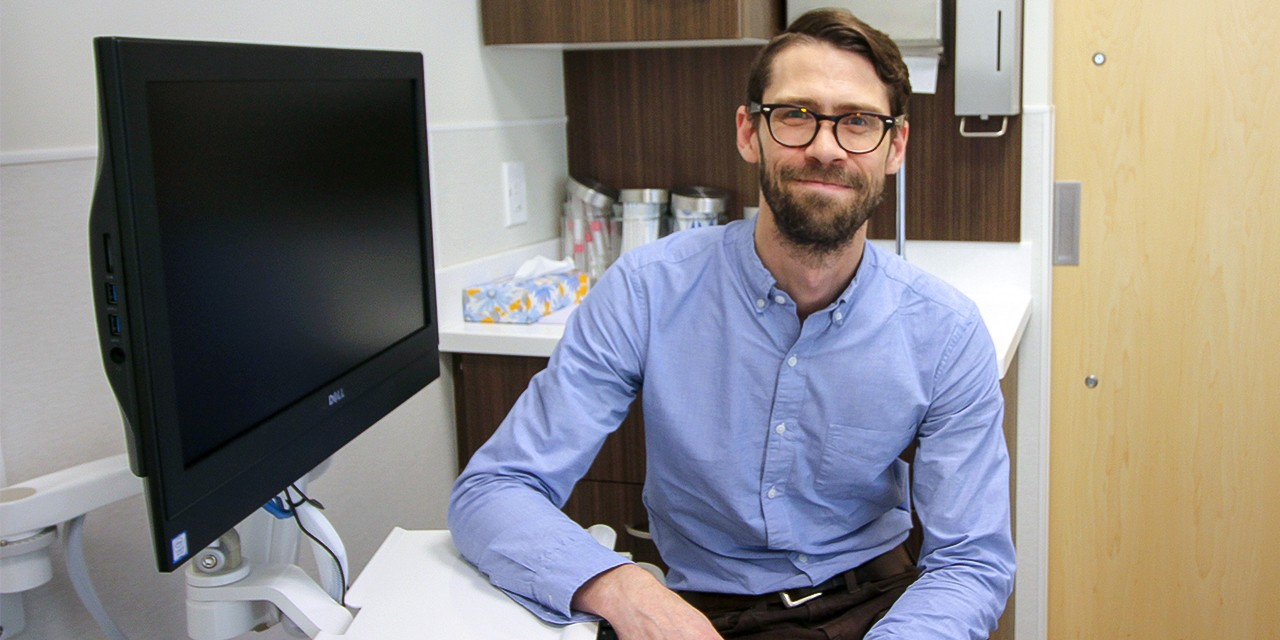 Peter Bell, medical director of the newly opened MacEwan University Health Centre and a clinical lecturer with the U of A's family medicine department, says the clinic will lead the way in teaching a new model of care to U of A medical residents. (Photo: Ross Neitz)