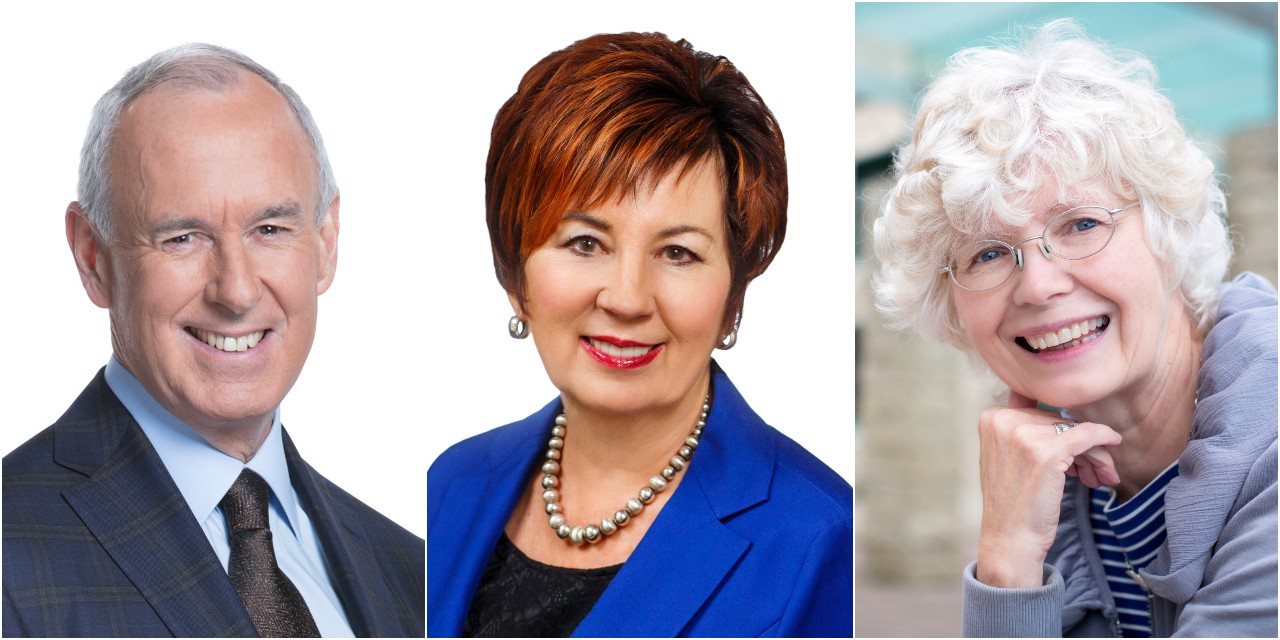 Next month, the University of Alberta will award its highest honour to Ron MacLean, Claudette Tardif and Alice Major. (Photos: Supplied)