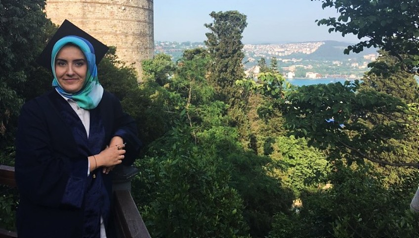 Esra Kazanbas was the first person in her family to go to university. Now, with a master's degree in women's and gender studies from the U of A, she plans to eventually return to her native Turkey to teach university courses. (Photo: Supplied)