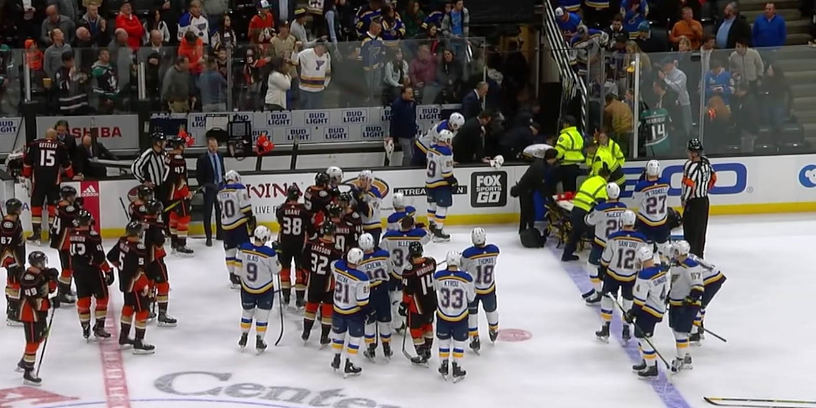 The immediate medical attention St. Louis Blues defenceman Jay Bouwmeester received after collapsing on the bench during a game Feb. 11 likely saved his life, according to a U of A expert in sports medicine. (Image: Sportsnet via YouTube)