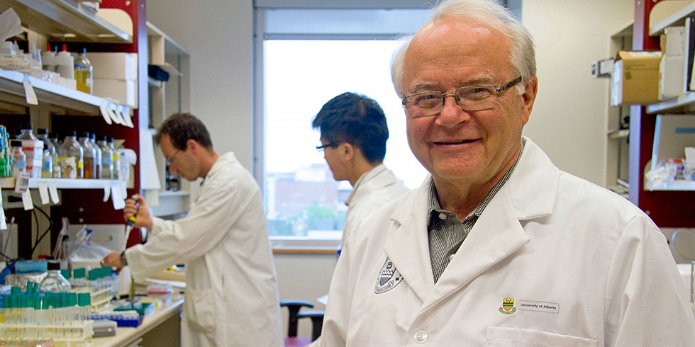 Lorne Tyrrell, founding director of the Li Ka Shing Institute of Virology, says some of Canada's top virologists at the institute are focusing on research into diagnostic tests, antiviral drugs and vaccines against the new coronavirus. (Photo: Faculty of Medicine & Dentistry)