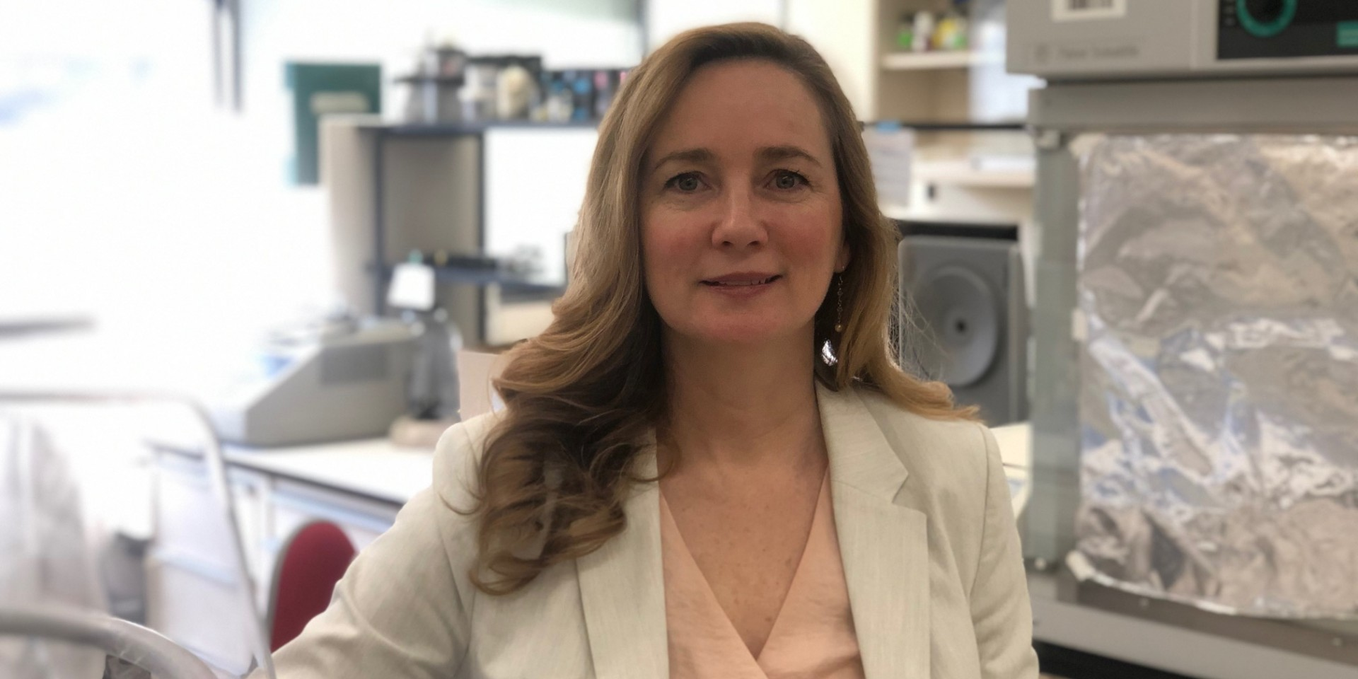 Biochemist Joanne Lemieux is working with U of A colleagues to find out whether a compound known to cure a deadly coronavirus-caused disease in cats might also work against COVID-19 in humans. (Photo: Supplied)
