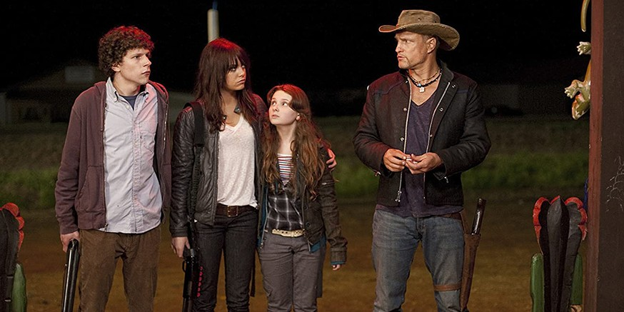 "Popular films like the classic ""Living Dead"" trilogy and ""Zombieland"" (pictured) mirror the threat in people's minds as we deal with barren streets and fear-mongering amid the COVID-19 pandemic, says a U of A professor who teaches a course on how zombies are used metaphorically in society. (Photo: IMDB)"