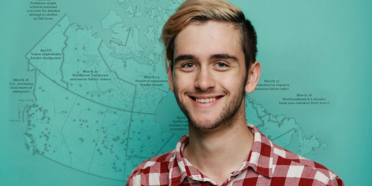 U of A student Alex McPhee (pictured above) is working with his friend, political science alumnus Samuel Dyck, to create an online map showing travel restrictions communities across Canada have implemented because of the COVID-19 pandemic. (Photo: Supplied)