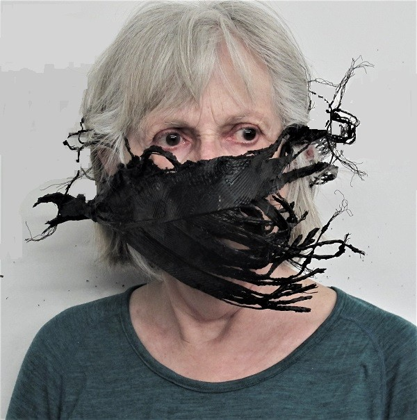 "Visual artist Margaret Witschl created a self-portrait ""to express and remember the anxieties of the COVID 19 pandemic."" (Photo: Margaret Witschl)"