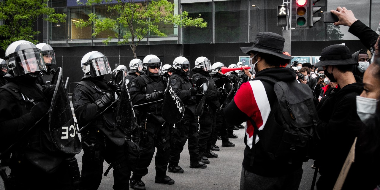 Protestors demonstrate against police brutality in Montreal, on June 7, 2020. (Photo: Steve Daniel/Unsplash)