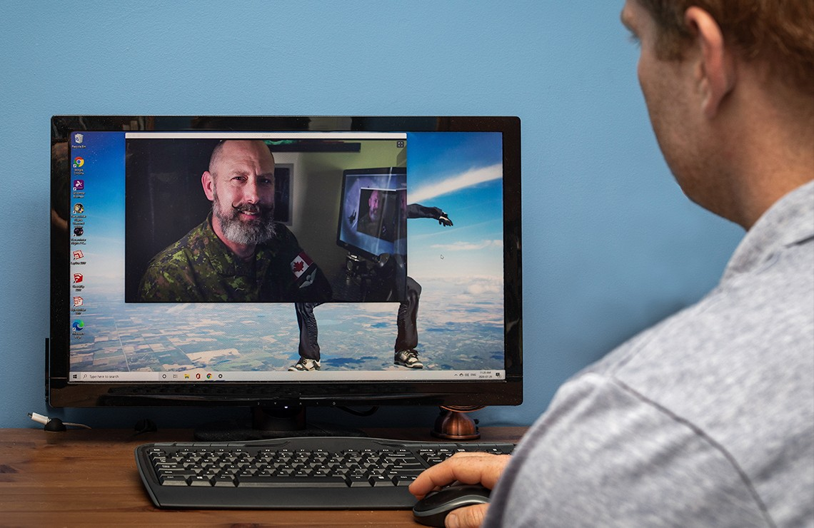 Remote mental health treatment can work as well as in-person therapy, according to U of A researchers who reviewed studies involving military members, veterans and public safety personnel. (Photo: Chelsea Jones)