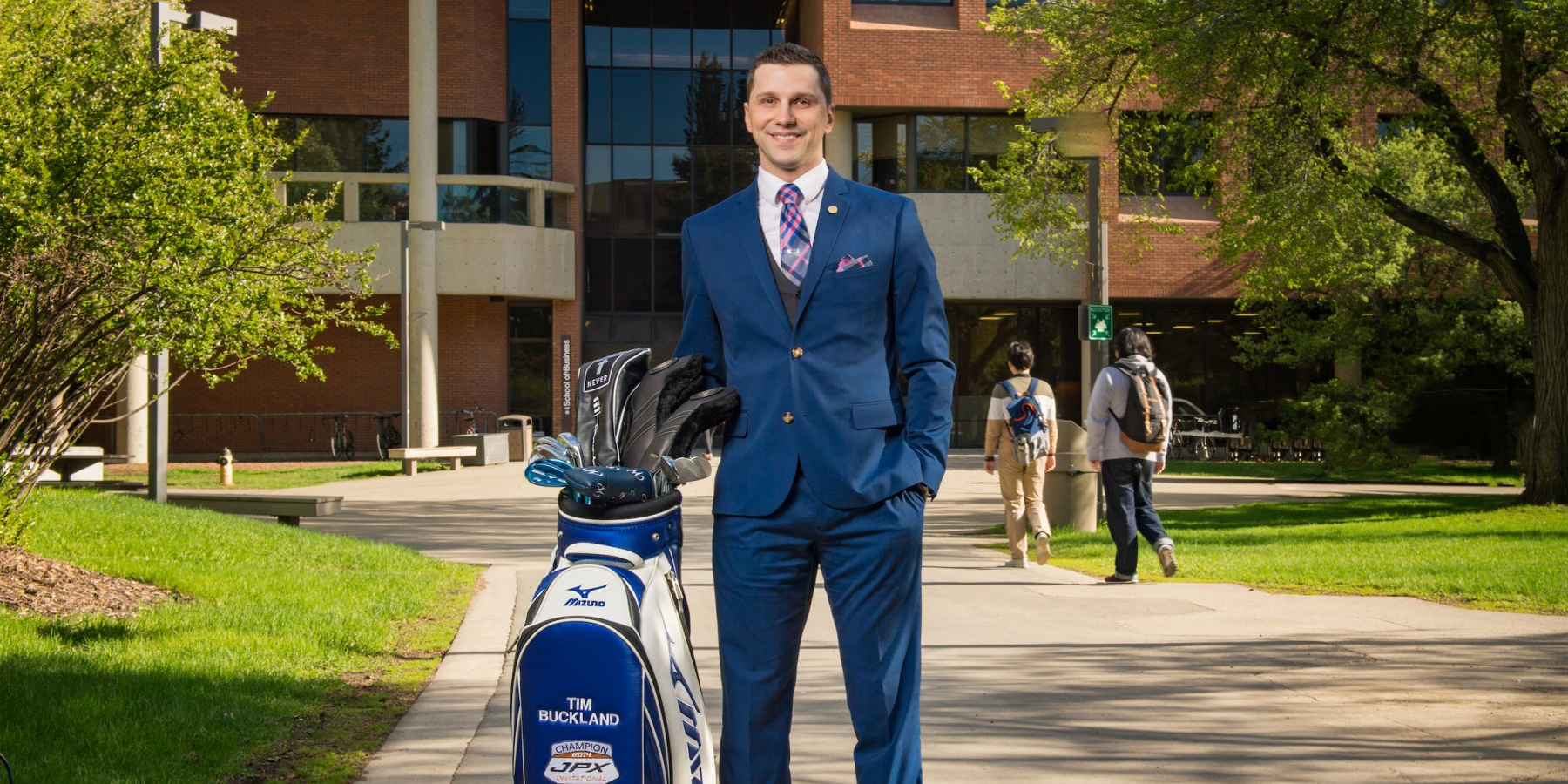 After three bouts of cancer, MBA graduate Tim Buckland has found solace on the golf course and helping others with their cancer struggles. (Photo by Richard Siemens)