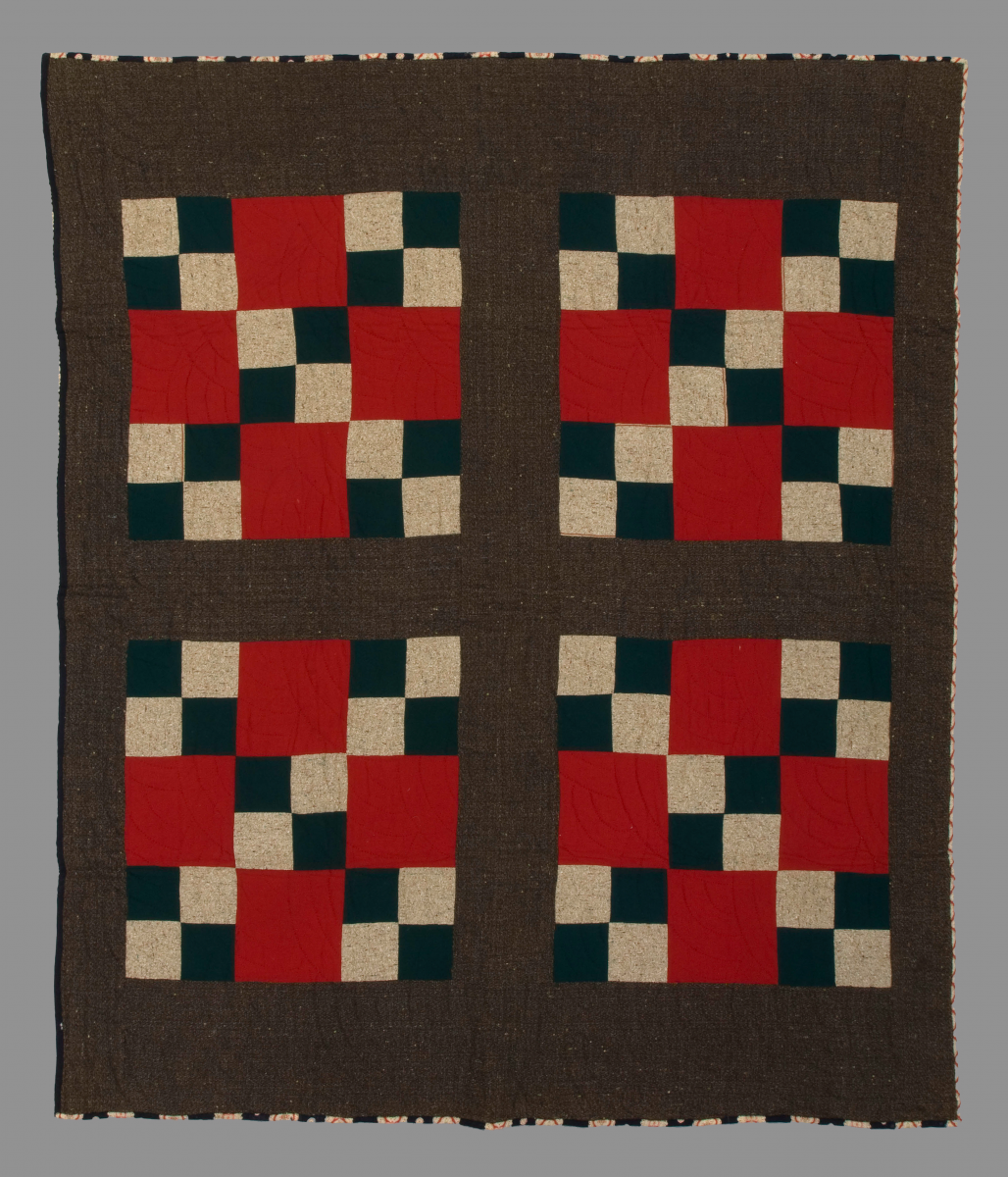 An example of a nine patch quilt