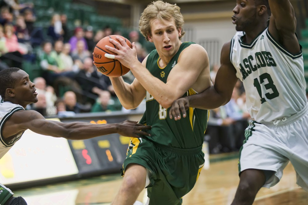 Fifth-year forward Jordan Baker, who graduated from the Alberta School of Business and moved on to graduate studies, had a season to remember. The Edmonton-born product broke the U of A's all-time men's basketball scoring record, to go along with nine other records in his career. He also won the Canada West MVP award and was named to the CIS championship tournament all-star team. Bears basketball finished the season with a bronze medal at the CIS championship after winning their 11th Canada West title.