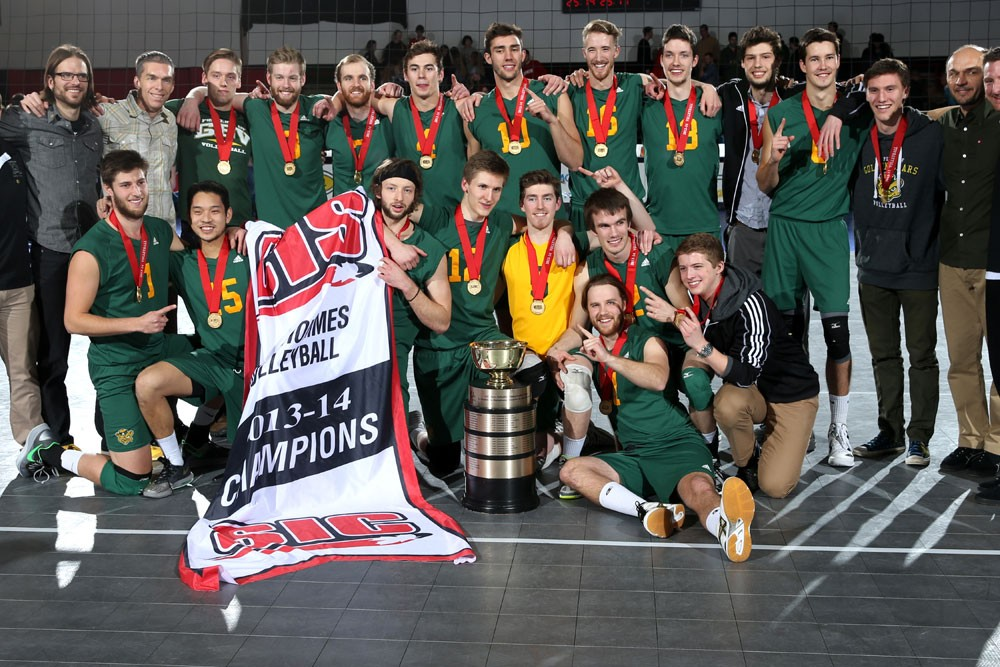 Golden Bears volleyball finished on top, claiming their seventh Tantramar Trophy in team history thanks to a 3-0 win over the Western University Mustangs in the CIS gold medal game. All seven of the Bears' CIS titles have involved legendary head coach Terry Danyluk, either as a player (for one title) or coach (for the other six).