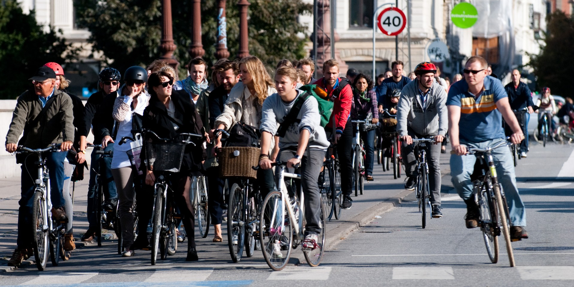 Cyclists line up at a red light in Copenhagen, Denmark—a city Edmonton could strive to emulate in small, affordable steps toward better bike infrastructure and public education, says UAlberta urban planner Manish Shirgaokar. (Photo: Heb@Wikimedia Commons, CC BY-SA 3.0)