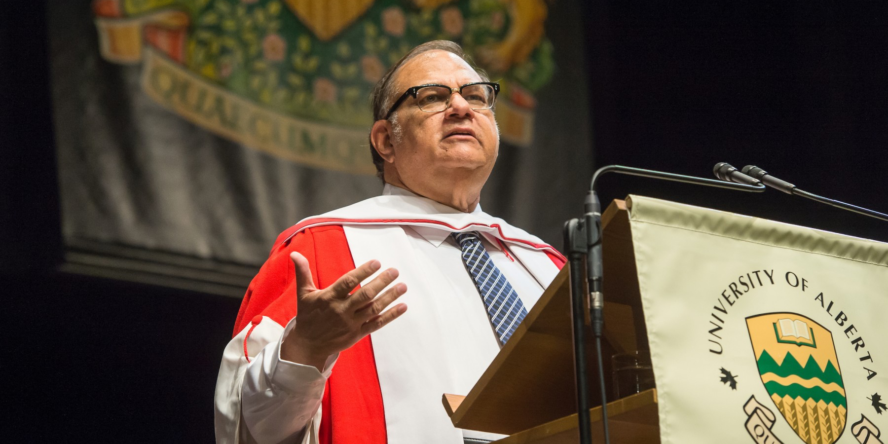 Former MLA Dennis Anderson received an honorary doctor of laws degree June 15. (Photo by Richard Siemens)