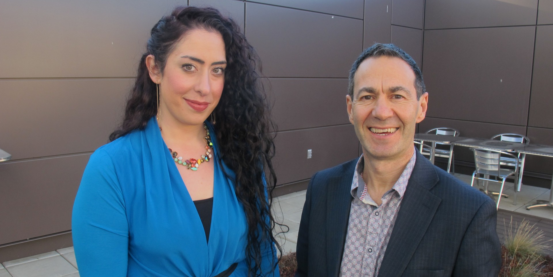 (From left) Yasmeen Krameddine and Peter Silverstone
