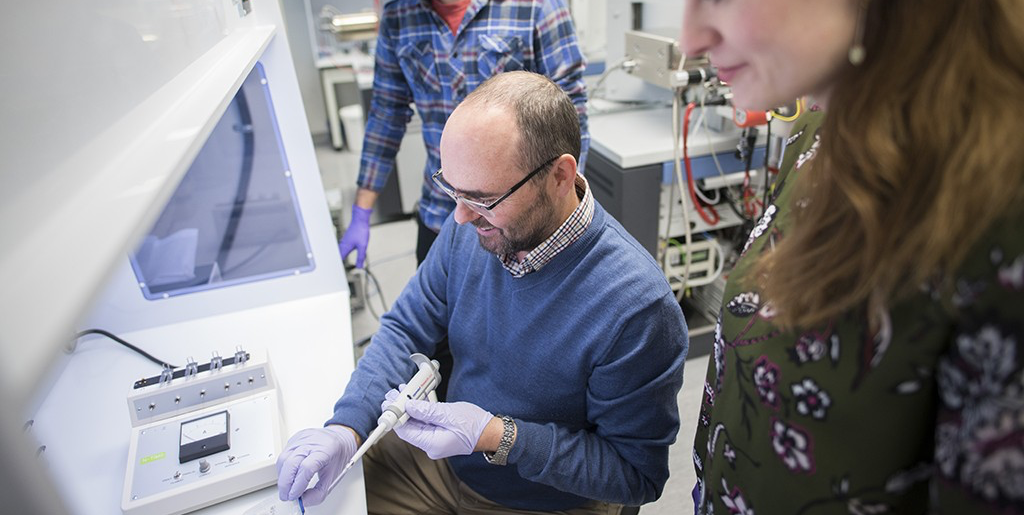 Graham Pearson (centre), Canada Excellence Research Chair in Arctic Resources, is leading the new Diamond Exploration Research and Training School out of the University of Alberta.